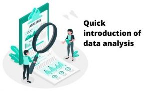 Quick introduction of data analysis